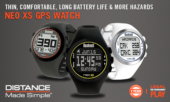 Bushnell Neo Xs Golf GPS Watch - distance made simple