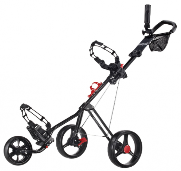 CaddyTek SuperLite Deluxe Golf Push Cart - black