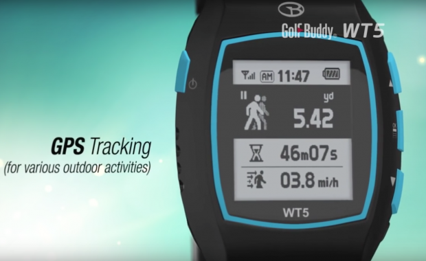 GolfBuddy WT5 Golf GPS Watch - gps tracking outdoor activities