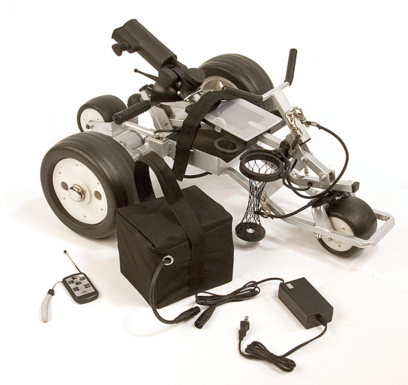 Cart-tek Remote Control Power Caddie Electric Golf Push Cart - folded up