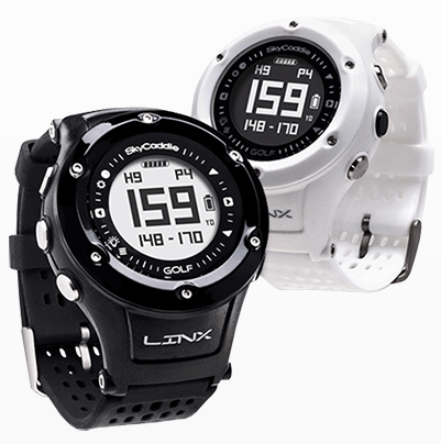 SkyCaddie LinxVue Golf GPS Watch - Black White