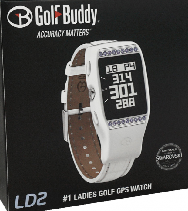 Golf Buddy Ladies LD2 Golf GPS Watch - swarovski crystals