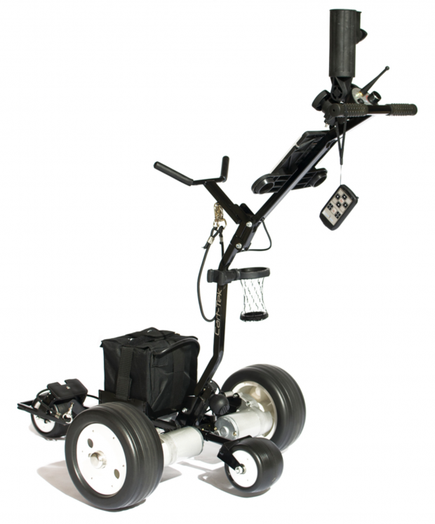 Cart-Tek GRX-1200R Remote Control Power Caddie Electric Golf Cart - back view