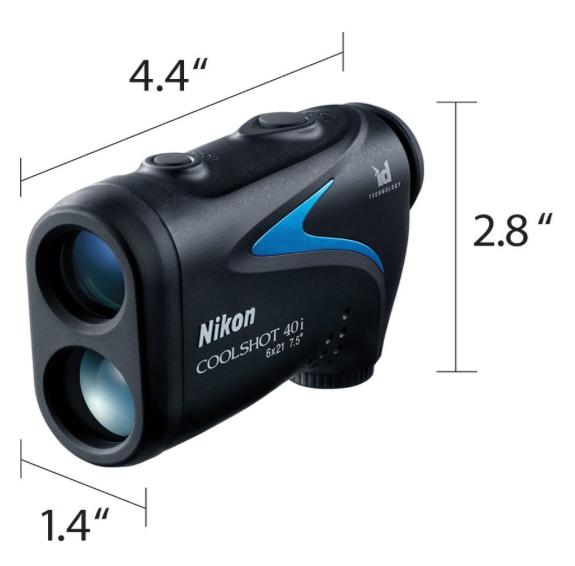 Nikon COOLSHOT 40i Golf Laser Rangefinder - dimensions