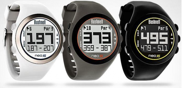Bushnell Neo Xs Golf GPS Watch - white charcoal black