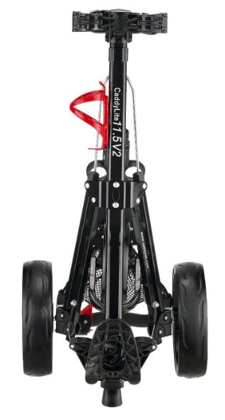CaddyTek SuperLite Deluxe Golf Push Cart - compact folded
