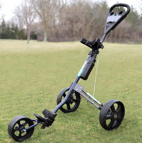 Intech Tri Trac 3-Wheel Golf Cart - on golf course