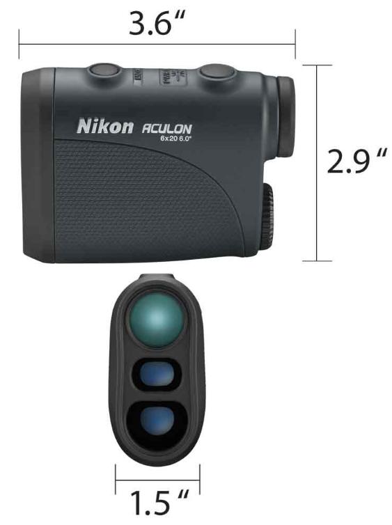Nikon 8397 Aculon Laser Golf Rangefinder - dimensions inches