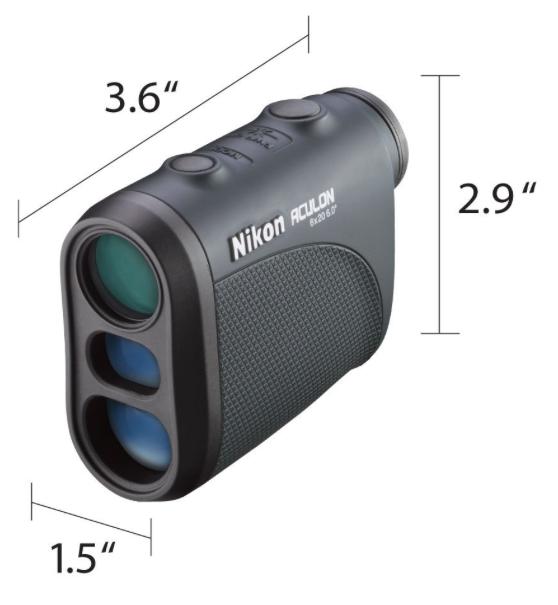 Nikon 8397 Aculon Laser Golf Rangefinder - dimensions