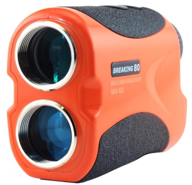 Breaking 80 Laser Golf Rangefinder with PenSensor 3 Advanced FlagSeeker & InteliScan Technology - orange side