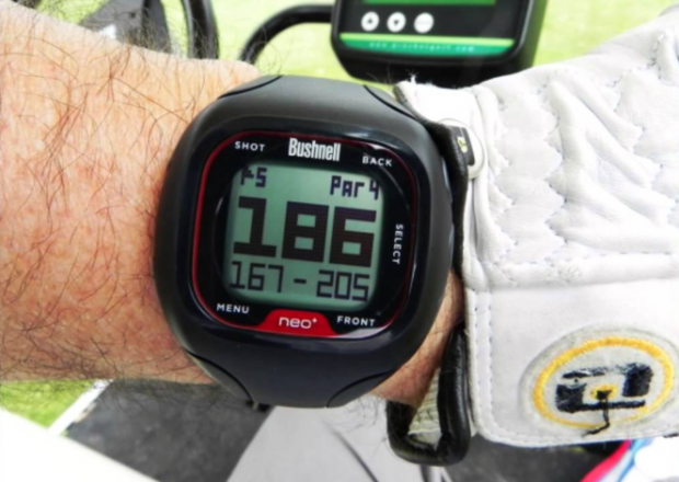 Bushnell neo+ Golf GPS Watch on wrist