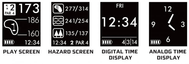 Callaway GPSync Golf GPS Watch - 4 display screens