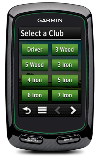 Garmin Approach G6 Handheld Touchscreen Golf Course GPS - analyse your game with clubs