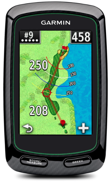 Garmin Approach G6 Handheld Touchscreen Golf Course GPS - hole overview