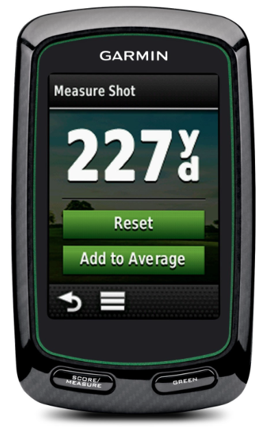 Garmin Approach G6 Handheld Touchscreen Golf Course GPS - measured shot