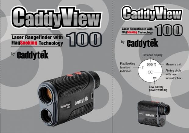 CaddyTek CaddyView 100 Golf Laser Rangefinder with FlagSeeking - specifications
