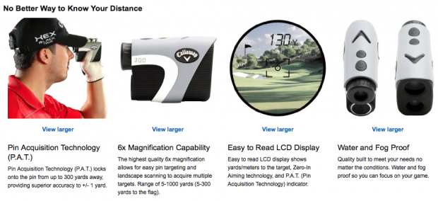 Callaway 300 Laser Golf Rangefinder - features overview