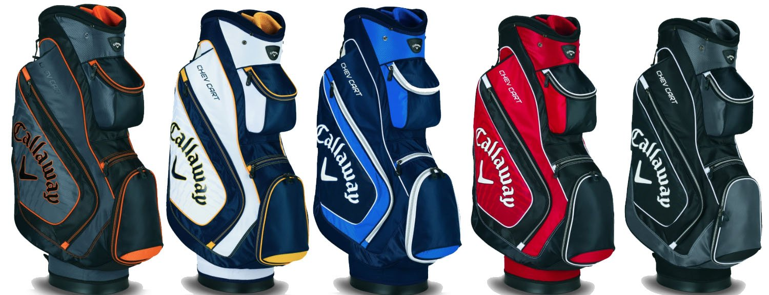Callaway 2015 Chev Golf Cart Bag Black Charcoal White Blue Navy Red