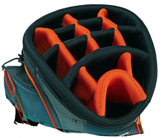 Callaway 2015 Chev Golf Cart Bag Charcoal - clubs divider