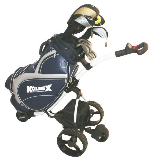 Kolnex JPL 360 Electric Golf Cart with golf bag