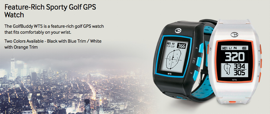GolfBuddy WT5 Golf GPS Watch - feature rich sporty gps golf watch