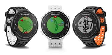 Garmin Approach S6 golf GPS watch - light, dark, black-orange colors