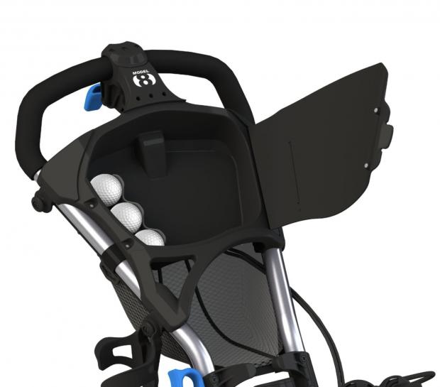 Clicgear Model 8.0 Golf Push Cart - storage options