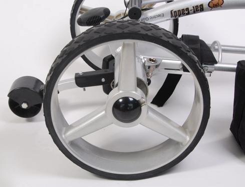 Bat Caddy X4R Lithium Remote Control Electric Golf Trolley - close up wheels