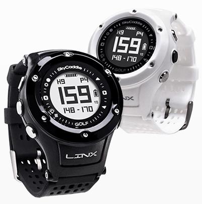SkyCaddie LinxVue Golf GPS Watch - Black White