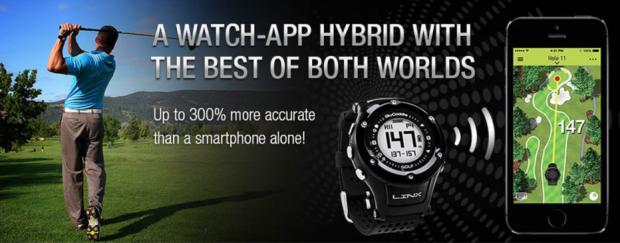SkyCaddie LinxVue Golf GPS Watch Rangefinder - accurate distances