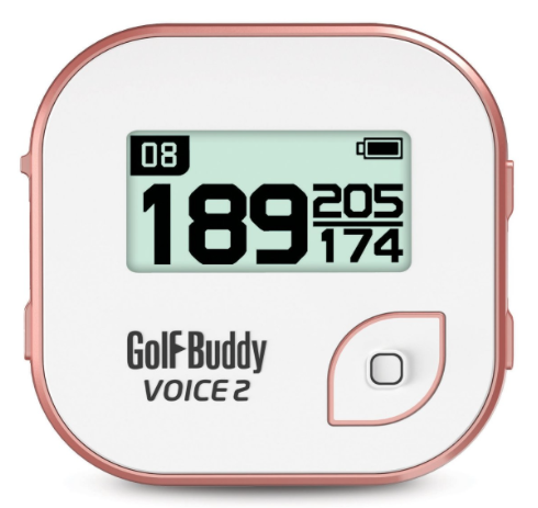 GolfBuddy Voice 2 Golf GPS Rangefinder Clip-on - White Rose Gold