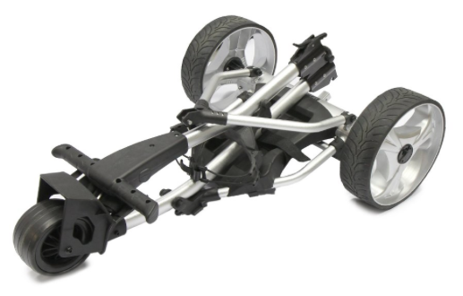 Spitzer R5 Digital Remote Control Golf Trolley with Distance Timer - folded up