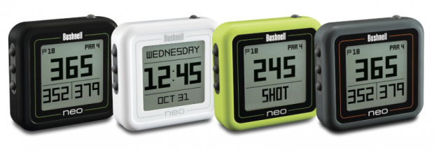 Bushnell Neo Ghost Golf GPS Black White Neon Green Charcoal