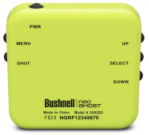 Bushnell Neo Ghost Golf GPS Neon Green - Buttons explained