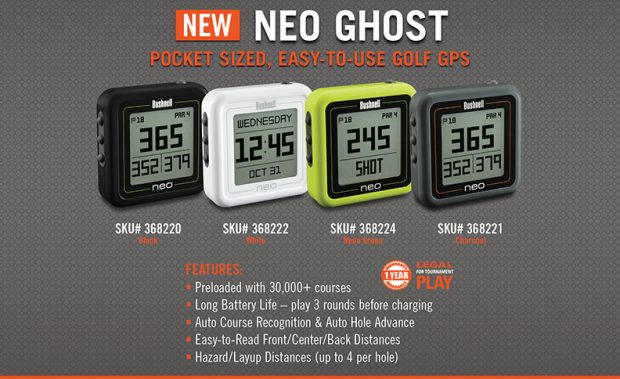 Bushnell Neo Ghost Golf GPS - details and specifications