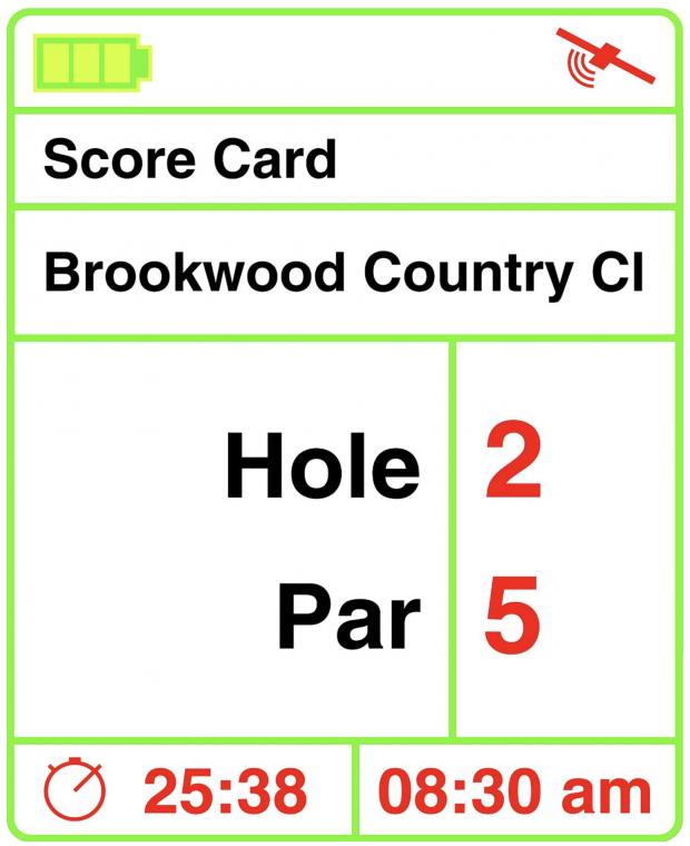 IZZO Swami 4000+ Golf GPS device - score card