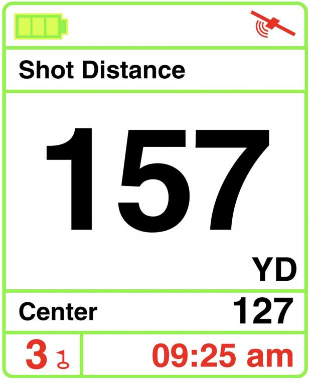 IZZO Swami 4000+ Golf GPS device - shot distance