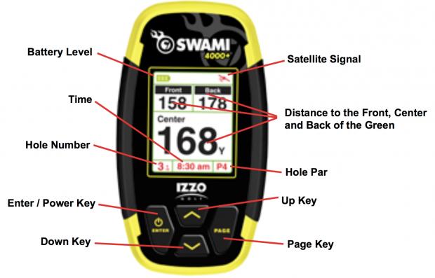 IZZO Swami 4000+ Golf GPS Handheld