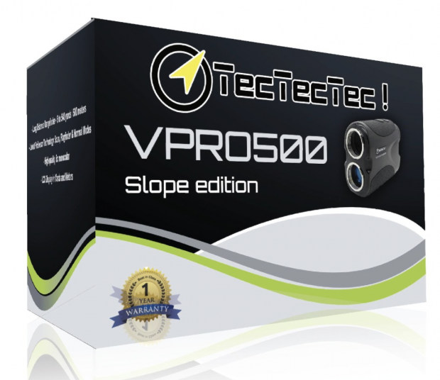 TecTecTec Vpro 500s Slope Laser Range Finder - Packaging box