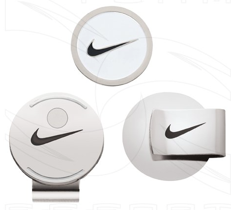 Nike Hat Clip and Ball Marker (White/Black)