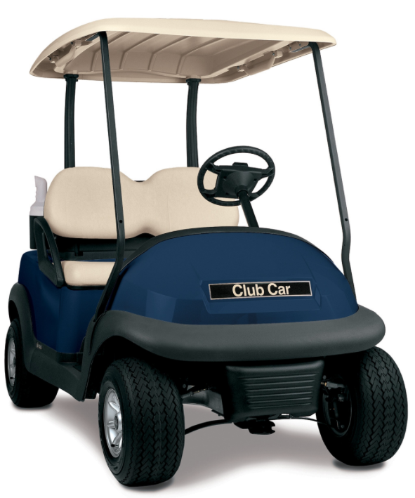 CLUB CAR PRECEDENT ELECTRIC GOLF CART Blue Buggy