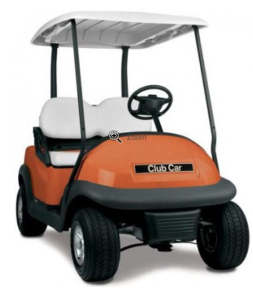 CLUB CAR PRECEDENT ELECTRIC GOLF CART Orange Buggy