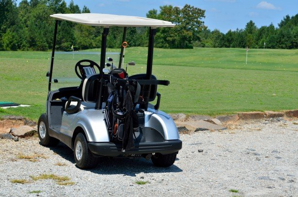 golf cart at golf course