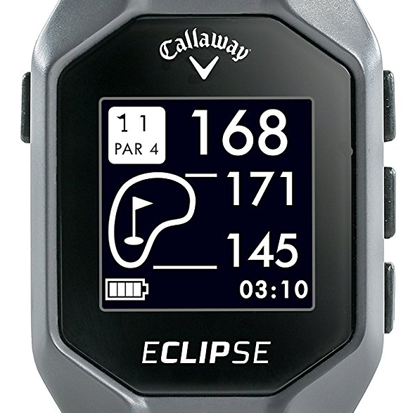 Callaway Eclipse GPS Clip-On - distances to front center back of green