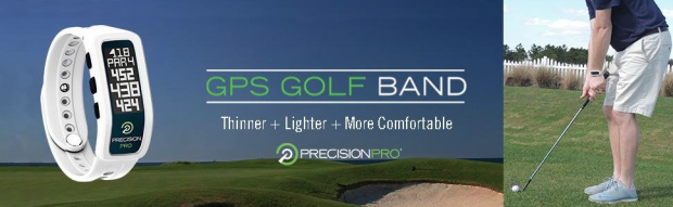 Precision Pro Golf GPS Band - accurate thinner lighter comfortable