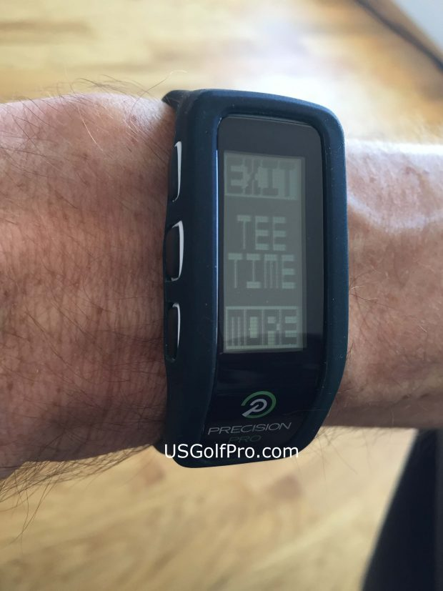 Precision Pro Golf GPS Band - great features tee time