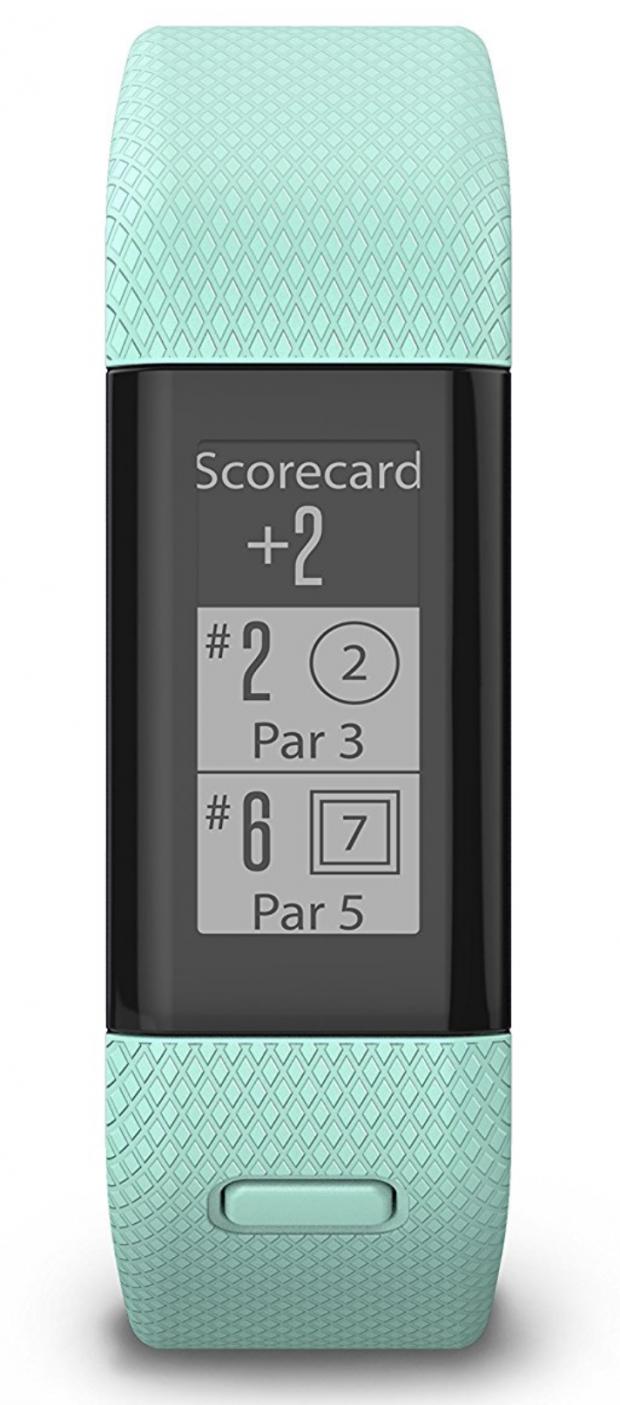 Garmin Approach X40 GPS Golf Band Midnight Blue - scorecard