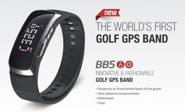 GolfBuddy BB5 Golf GPS Band - slim light pedometer