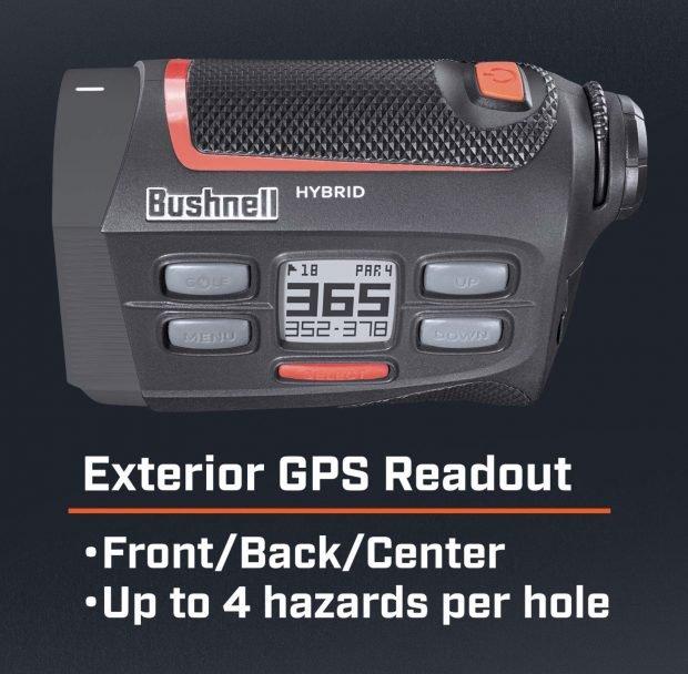 Bushnell Hybrid GPS laser golf rangefinder - distances and hazards