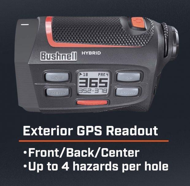 Bushnell Hybrid GPS laser golf rangefinder - distances and hazards